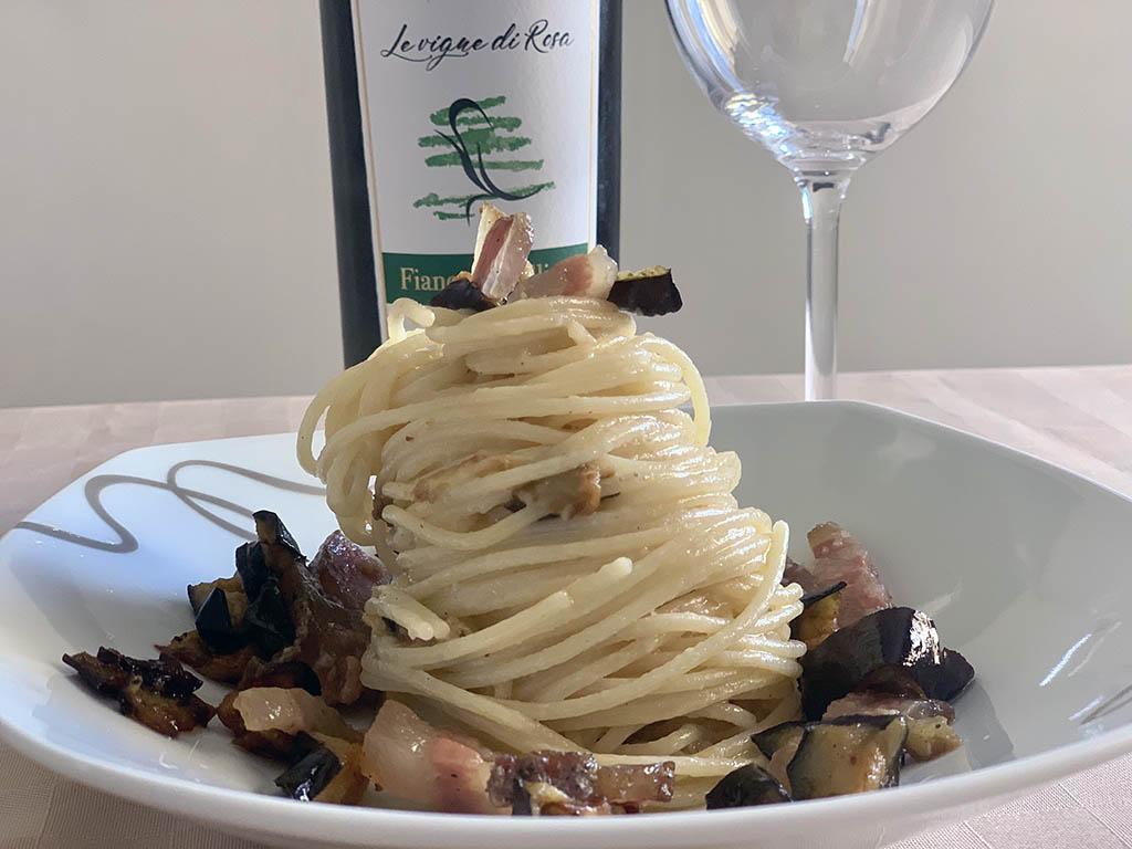 Ricetta con Spaghetti Marulo, guanciale e melanzane
