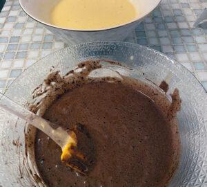 Le girelle con la Nutella e strato di Fondente